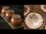 Как сделать знаменитый шоколадный декор Карима Боугри - блестящие диски с какао