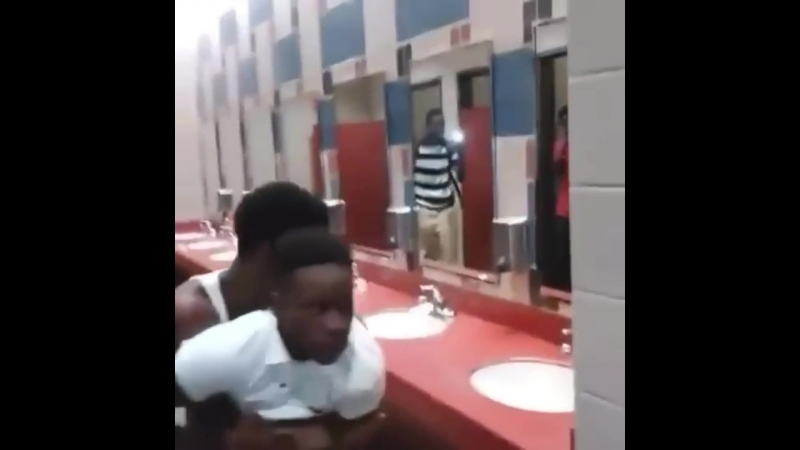 Two niggas fighting in the toilet