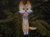 Оригами кот / How to make 3d origami yellow cat