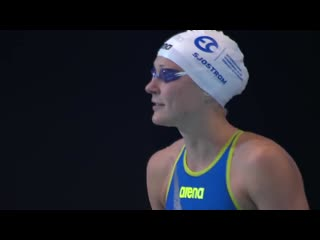 Sarah Sjostrom Wins 50 Freestyle Without Goggles