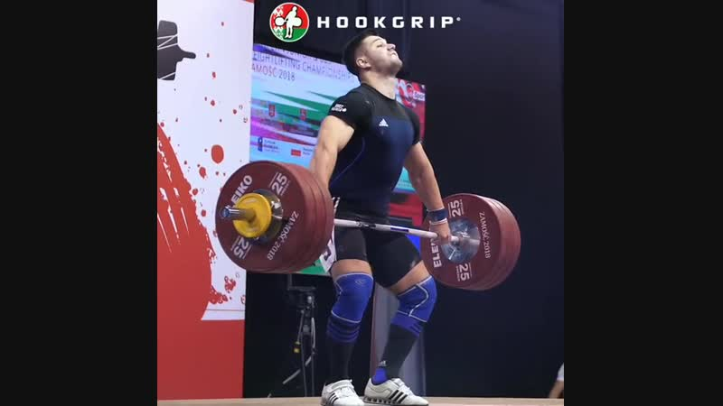 Евгений Тихонцов (BLR) - Snatch 178 kg on European Junior U23 Championships 2018