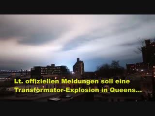New York - Blaue Lichter am Himmel - war es wirklich eine Transformator-Explosion? - Wahrheitsträumer