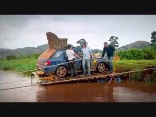 Троица в Африке,переход через Реку 🤣 (Top Gear)
