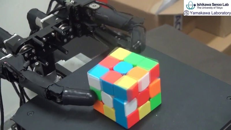 Rubiks Cube Manipulation Using a High-speed Robot Hand