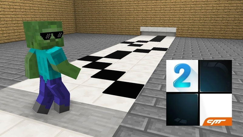 Monster School : Piano Tiles Minecraft Animation