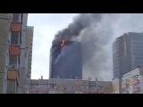 В центре Красноярска горит 25-этажный жилой дом (1)