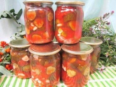 огурцы в томате на зиму обалденный рецепт с фото