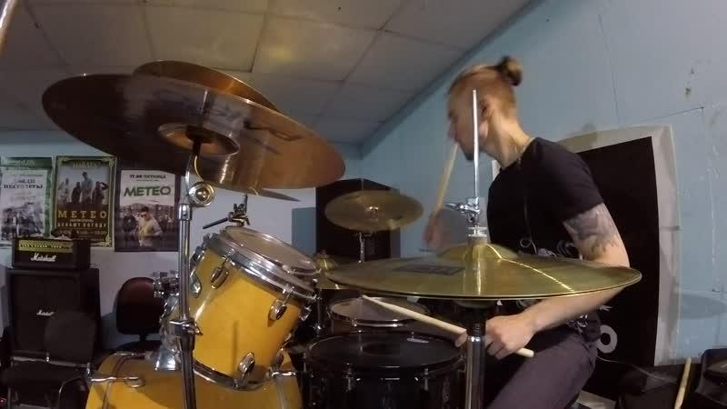 NECROPOZITIVE - Тракторная травма (Репа 06.09.2018) drum cam