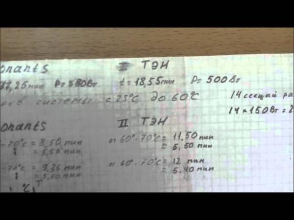 Эксперимент, графики, котел электрический Градиент и ТЭН. 3-я Часть.