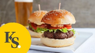 Classic Hamburger   Recipe for Everyone's Favorite Dish   With Homemade Buns