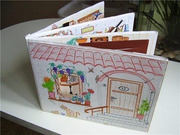 Книжка своими руками из бумаги картона