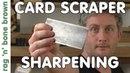 How To Sharpen A Card Scraper Cabinet Scraper To Get Wood Shavings