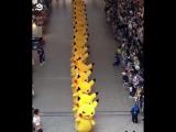 1,500 марширующих Пикачу на фестивале