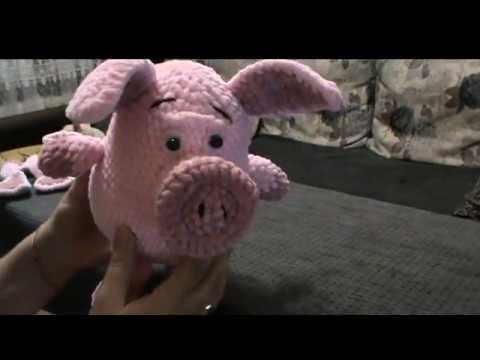 Свинка - символ года. Экспресс мастер-класс по вязанию игрушки-свинки.