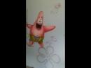 Роспись стены в детской. СпанчБоб и Патрик