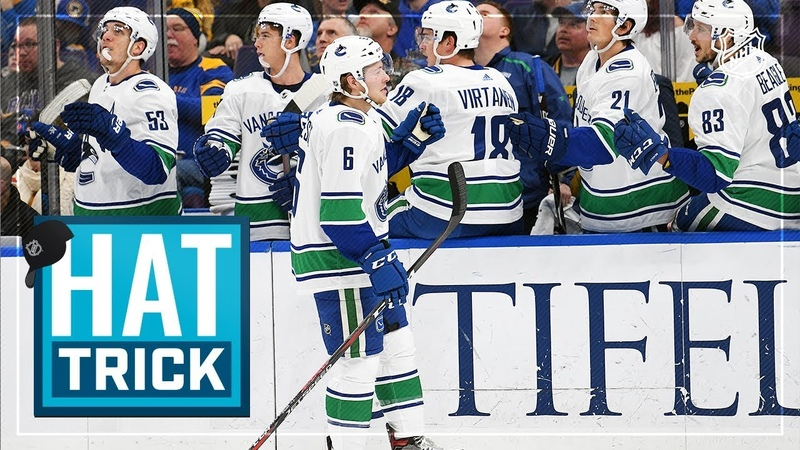 Brock Boeser collects second career hatty in rout of Blues