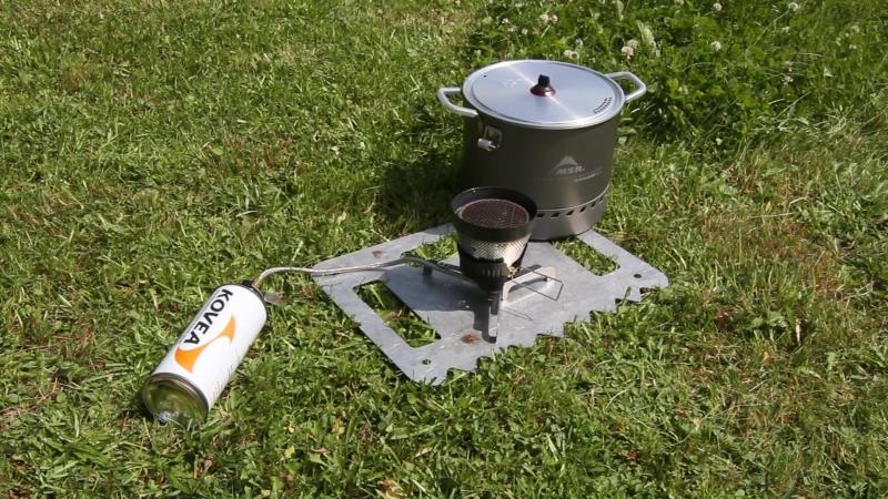 Горелка MSR Windburner c цанговым баллоном и кастрюля MSR Stock Pot