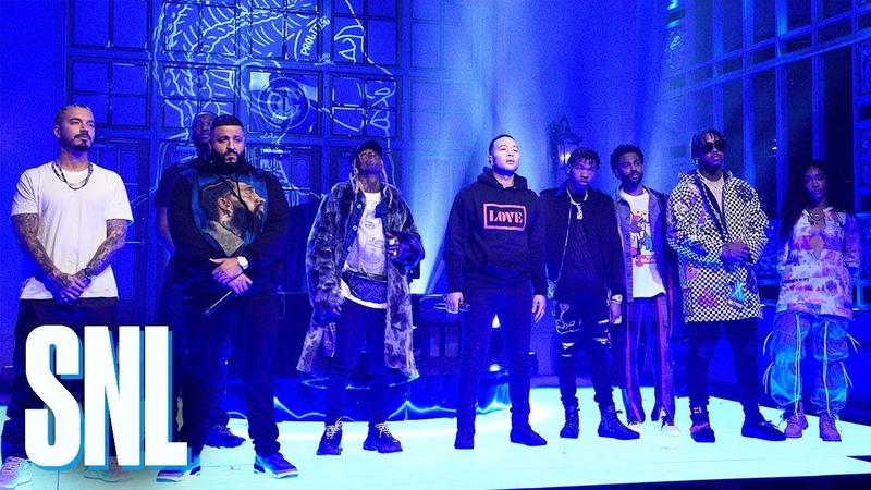 Выступление DJ Khaled, SZA, Meek Mill и John Legend с треками «Just Us», «Weather The Storm» и «Higher» на шоу «SNL»