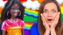 САМАЯ ТЕМНАЯ БАРБИ! Что с ногами😱 Обзор куклы Barbie Fashionistas Rainbow Sparkle/ распаковка