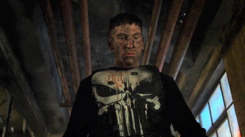 Каратель 1x11 - Каратель убивает агентов наковальни Перестрелка в подвале