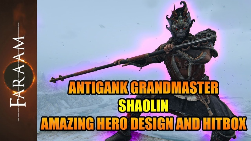 Antigank Grandmaster Shaolin - The Hero with the amazing moveset design and hitbox [For Honor]