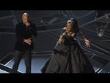 Рэпер Common и певица Andra Day исполняют песню «Stand up for something» на Оскаре
