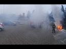 На Победителей в Минске сгорел FIAT