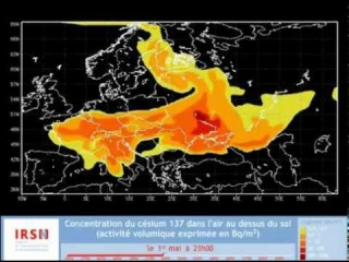Поширення радіації після вибуху на ЧАЕС
