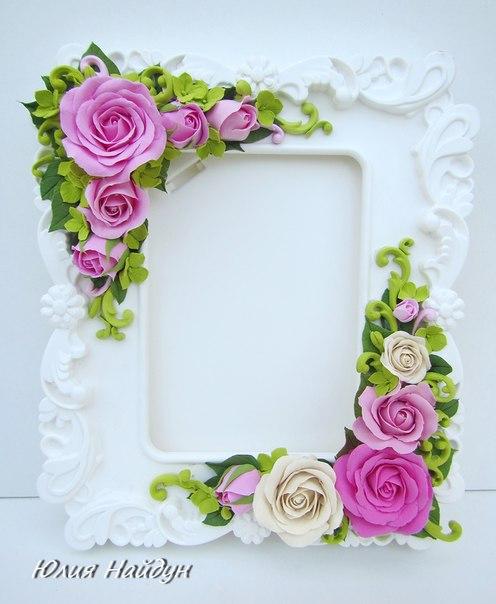 Рамка для фото цветы своими руками 113