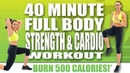 40 MINUTE FULL BODY STRENGTH AND CARDIO WORKOUT! 🔥BURN 500 CALORIES!* 🔥with Sydney Cummings