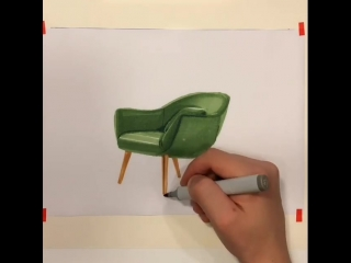 Design sketch | chair by Terekhov Pavel #Sketches@industrial.design #Tutorial@industrial.design