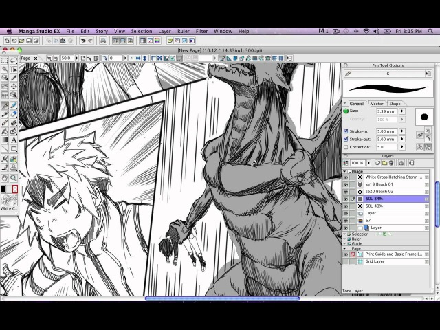 How to Draw Manga with Sen and Kai Manga Studio Screentone