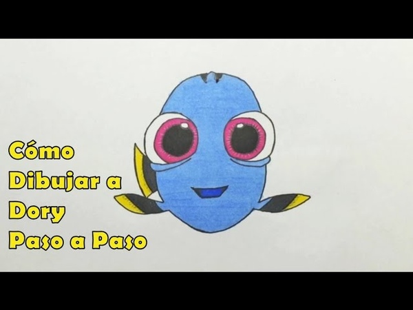 Cómo Dibujar a Dory Bebé Paso a Paso