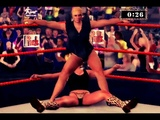 Major Gunns performs Stinkface on Trish Stratus