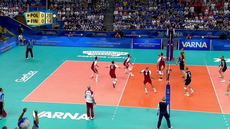 15.09.2018. 2025 - Волейбол. Чемпионат мира. Мужчины. 3 тур. Группа D. Польша - Финляндия