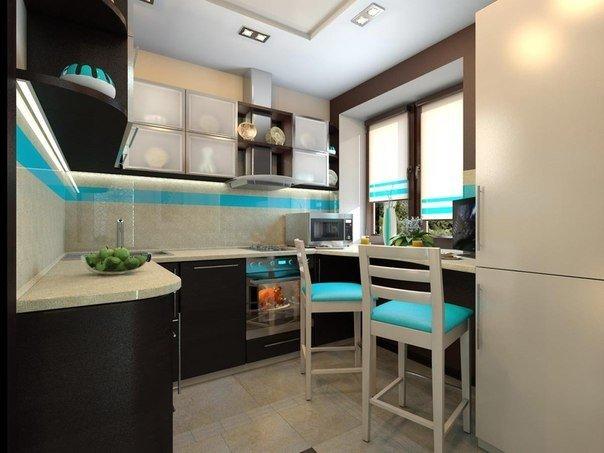 Дизайн интерьера кухни (1 фото) - картинка