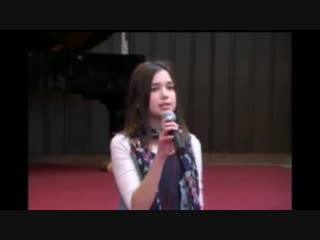Dua lipa - no one (cover) (12 years old dua singing at her school in kosovo)