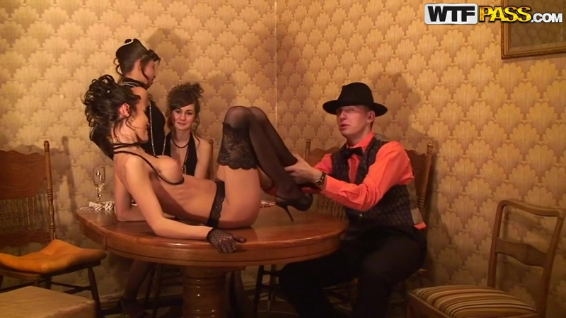 Hot sex party in retro style 02