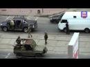 Луганск, боевики атакуют фургонLugansk, gunmen attacked a van
