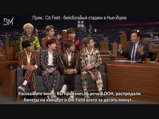 [RUS SUB][26.09.18] BTS Interview @ The Tonight Show Starring Jimmy Fallon