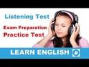 Multiple-Choice Test 1 - Intermediate Listening Practice Test