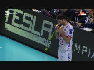 Перуджа - Чивитанова. 17-й тур Чемпионат Италии 2018-2019 по волейболу. Мужчины