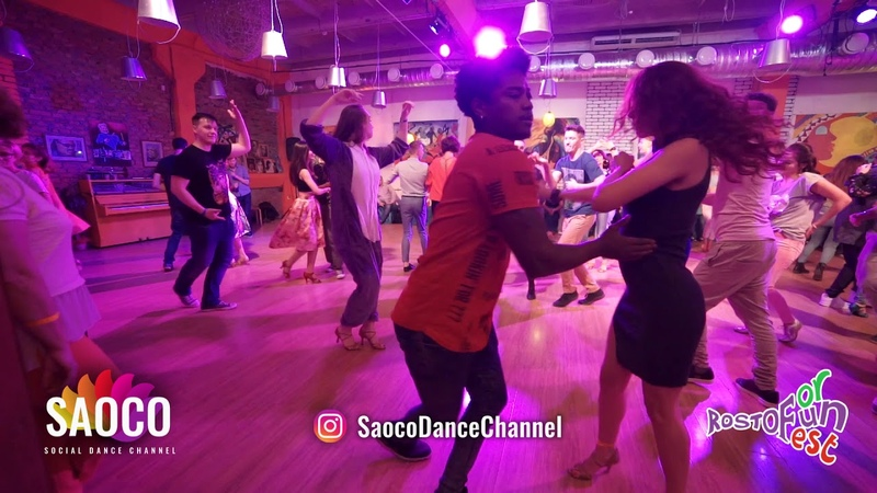 Falco Benalcazar and Svetlana Levchenko Salsa Dancing at Rostov For Fun Fest 2018 Fri 02 11 18 SC