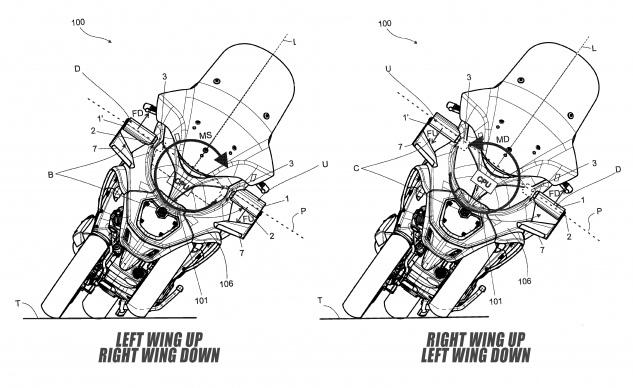 Piaggio патентуют активные аэродинамические крылья