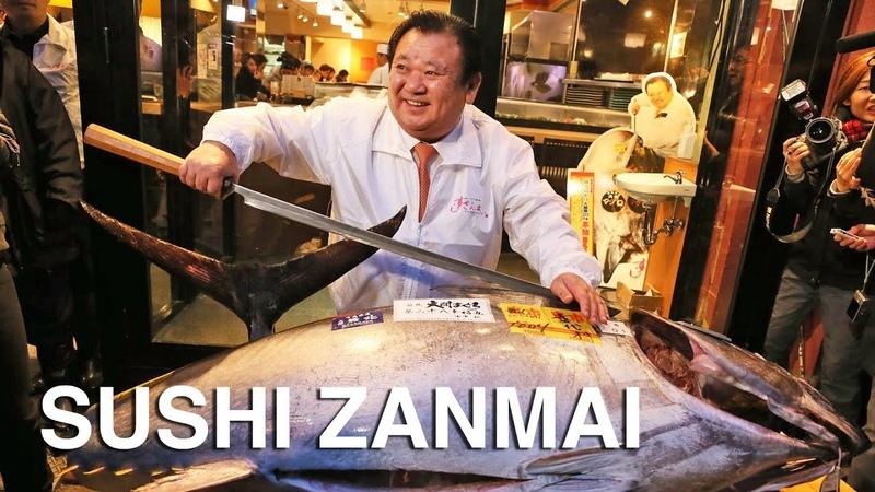 Sushi Zanmai - Buyer of the record $3 million tuna!
