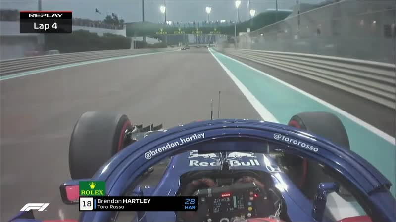 Hartley able to continue despite tagging the barriers
