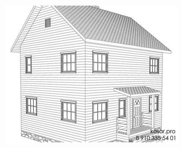 Двухэтажный дом 5019