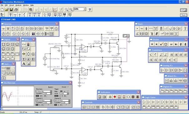 Программа симуляции электронных схем