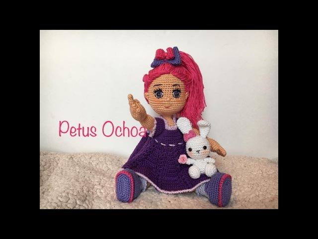 Como tejer piernas muñeca Greta amigurumis By Petus PRIMERA PARTE