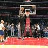 "NBA on Instagram 🌪 @easymoneysniper spins through warmups for tonight's @nbatv action in LA StayBalanced"""